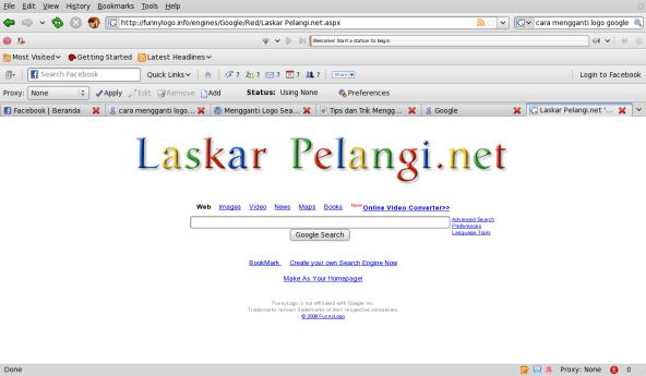 Mesin Pencari Laskar Pelangi.net