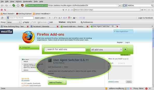 Addons user agent