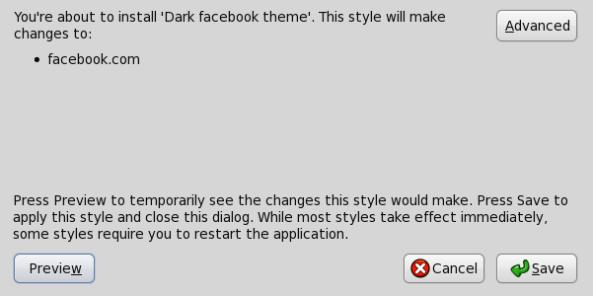 Konfirmasi Penambahan theme pada stylish
