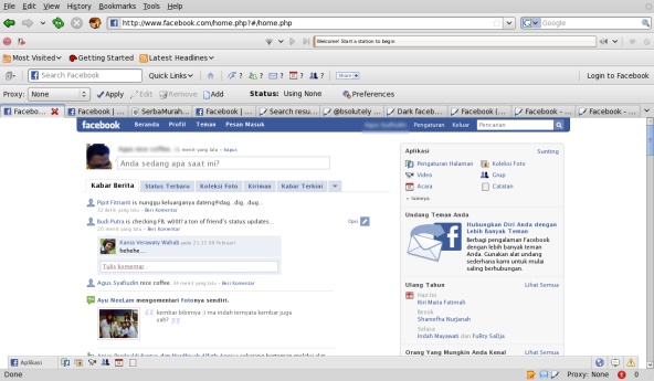 Themes default facebook