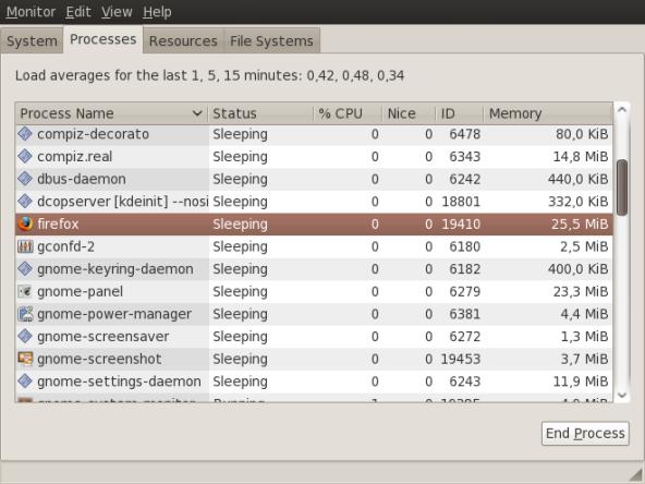 Awal penggunaan Memori Firefox 3.0