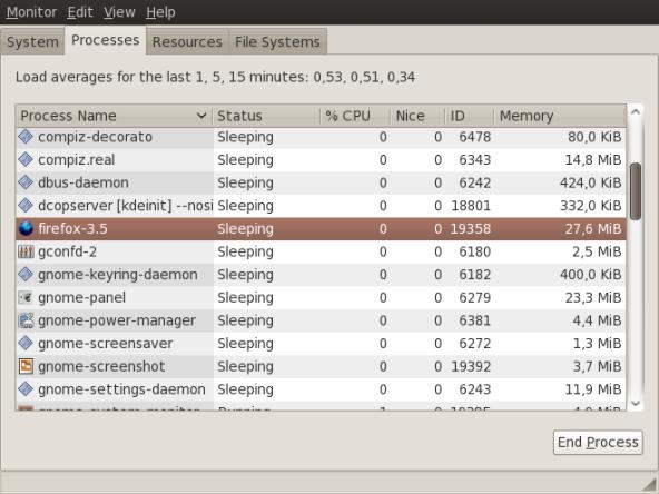 Awal penggunaan memori Firefox 3.5